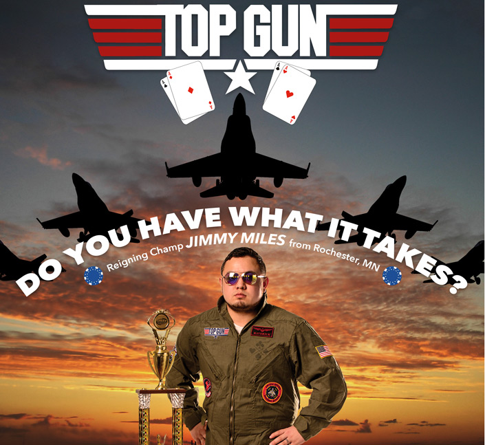 Free Poker Network's TOP GUN promotion. Win a $10,000 Poker Package