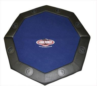 Padded poker tabletop